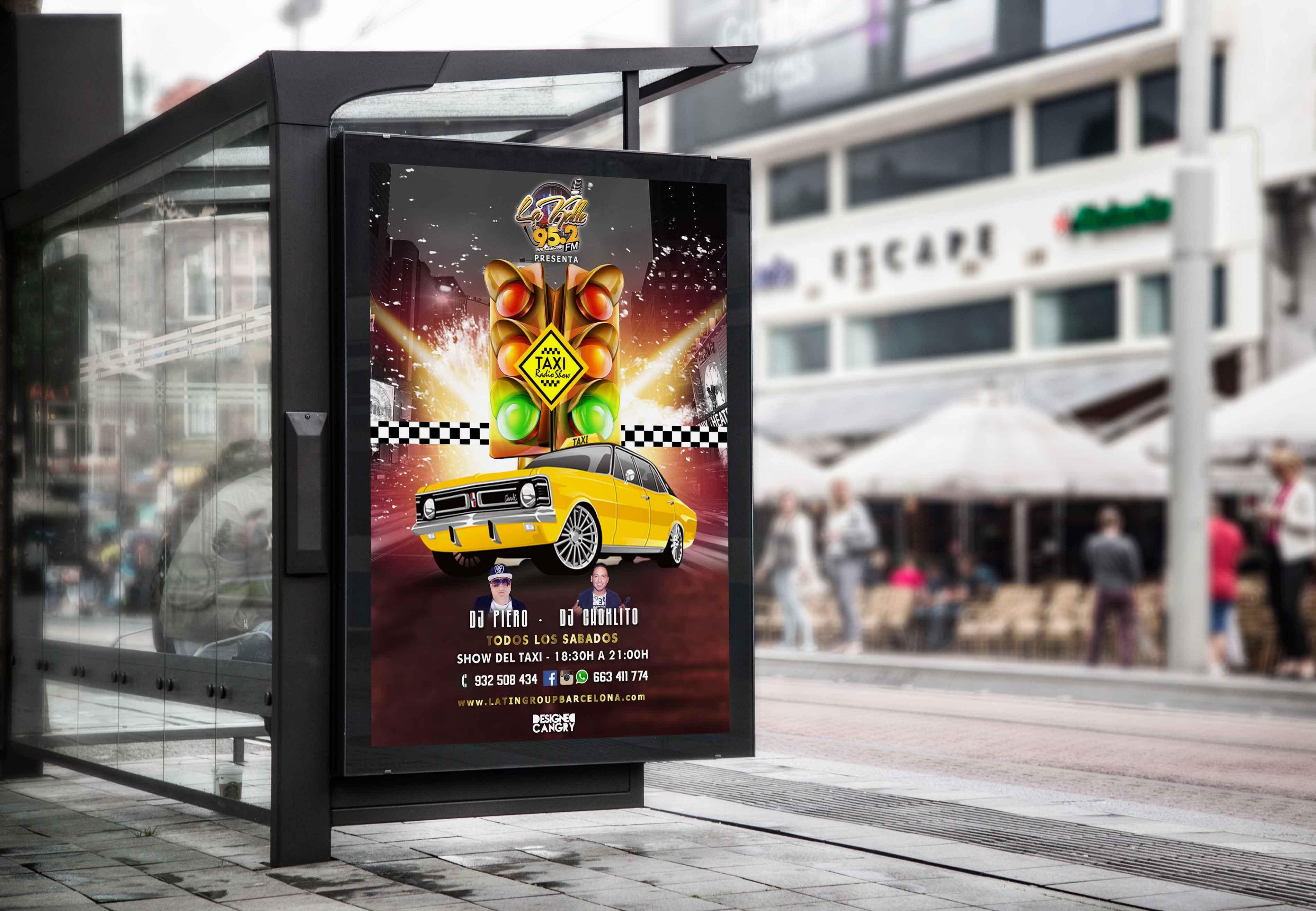 Taxi Show Diseño Flyer de la Radio La Kalle